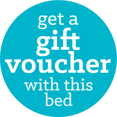 Get a gift voucher with this bed