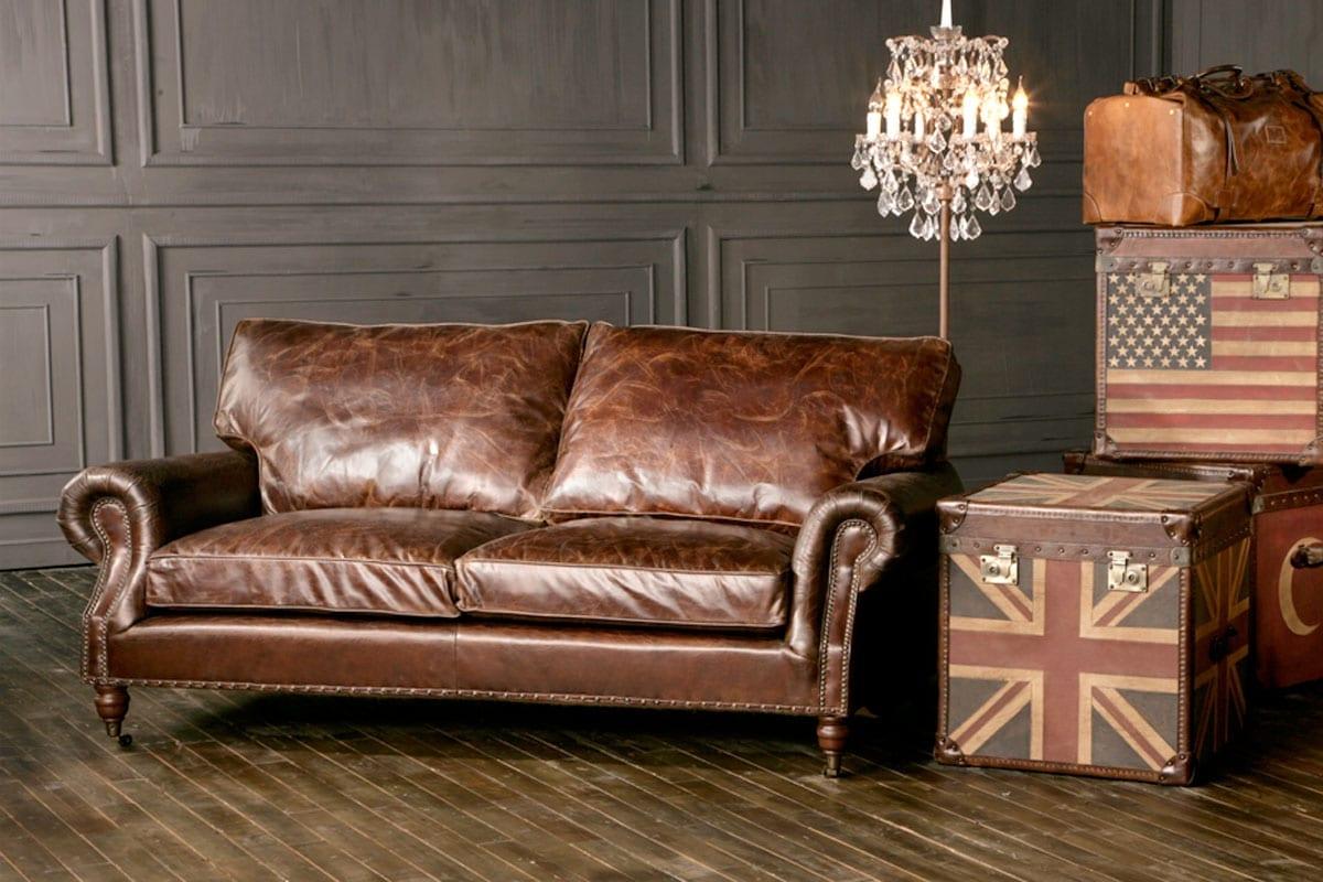 Halo Sofa Halo Groucho Large Aniline Leather Sofa At John