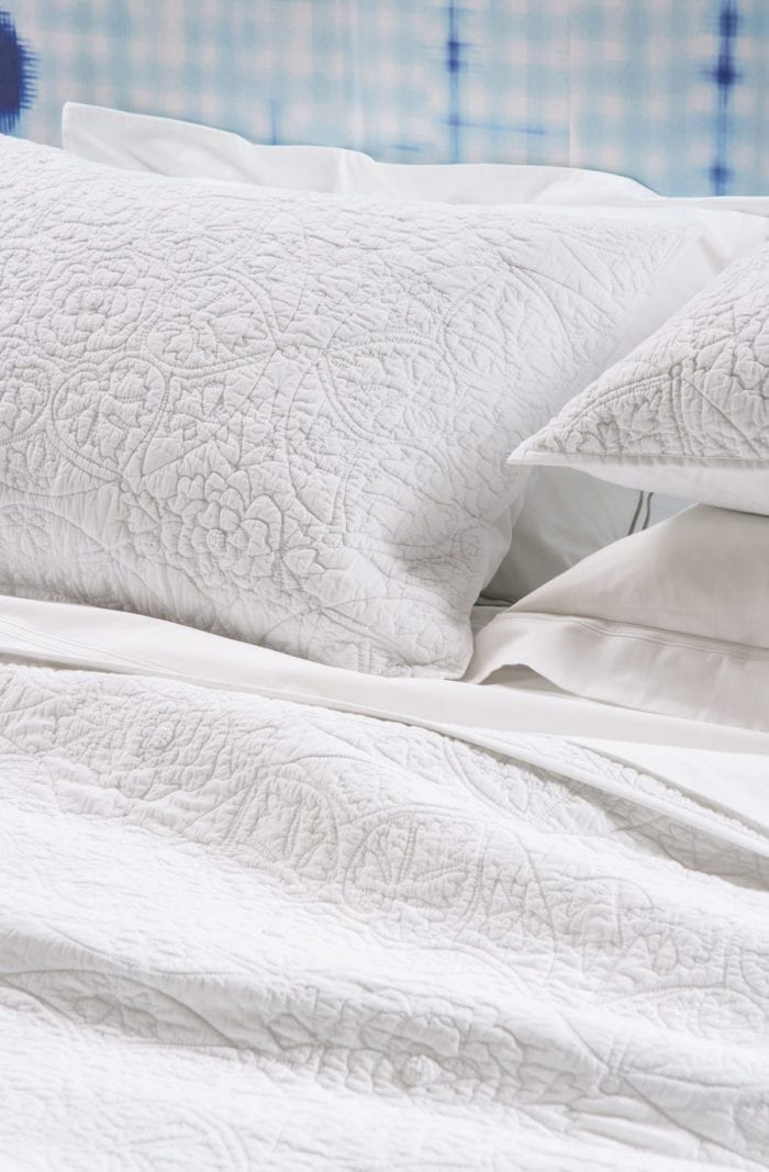 Bianca Lorenne Amarento White Bedspread available at McKenzie & Willis