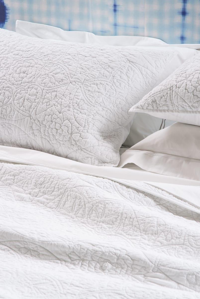 Bianca Lorenne Amarento White Bedspread Close Up