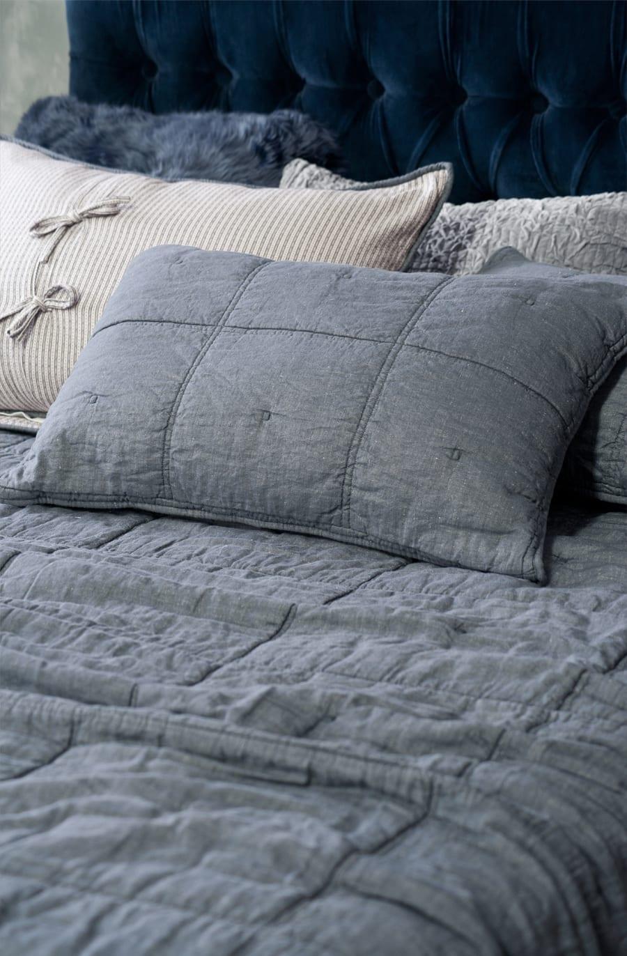 Bianca Lorenne Noma Bedspread in Denim available at McKenzie & Willis