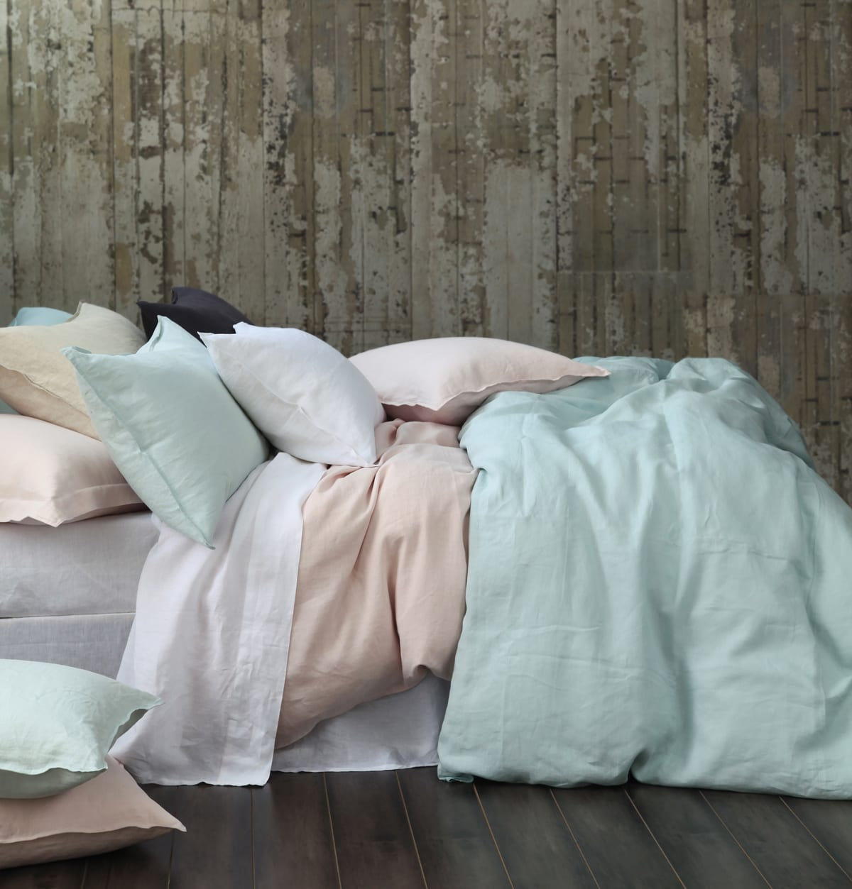 MM Linen Laundered Linen Duvet Set available at McKenzie & Willis