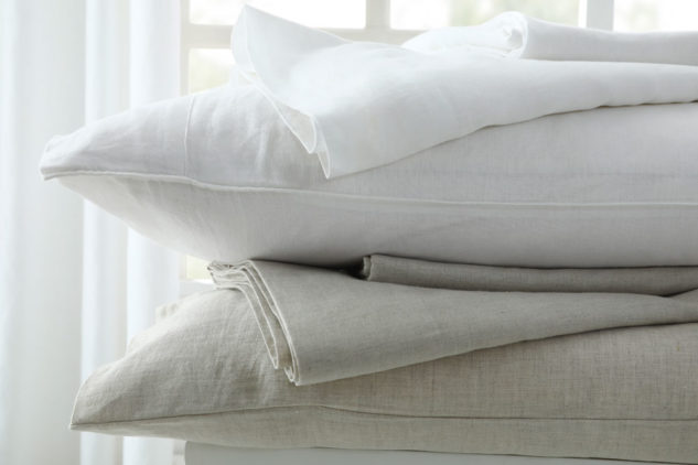 MM Linen Laundered Linen Sheet White And Natural 1 633x422
