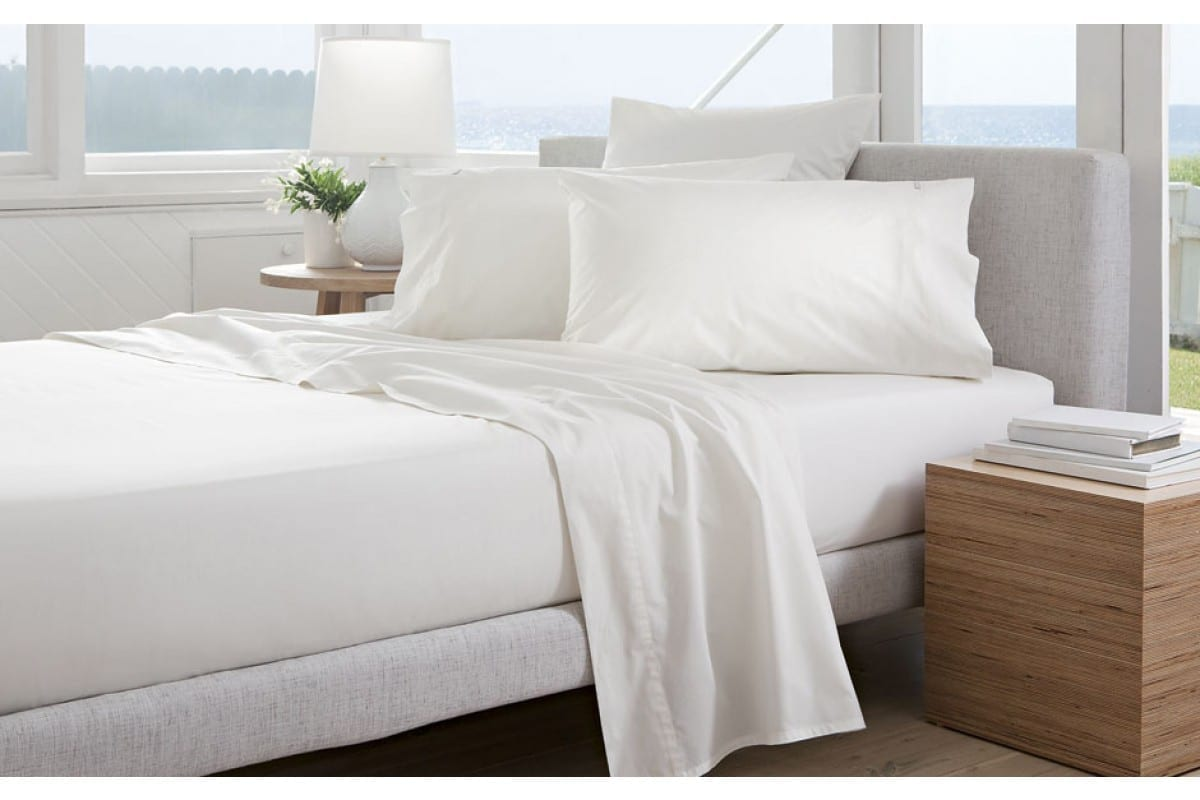 Sh 300tc percale fitted sheet 40cm