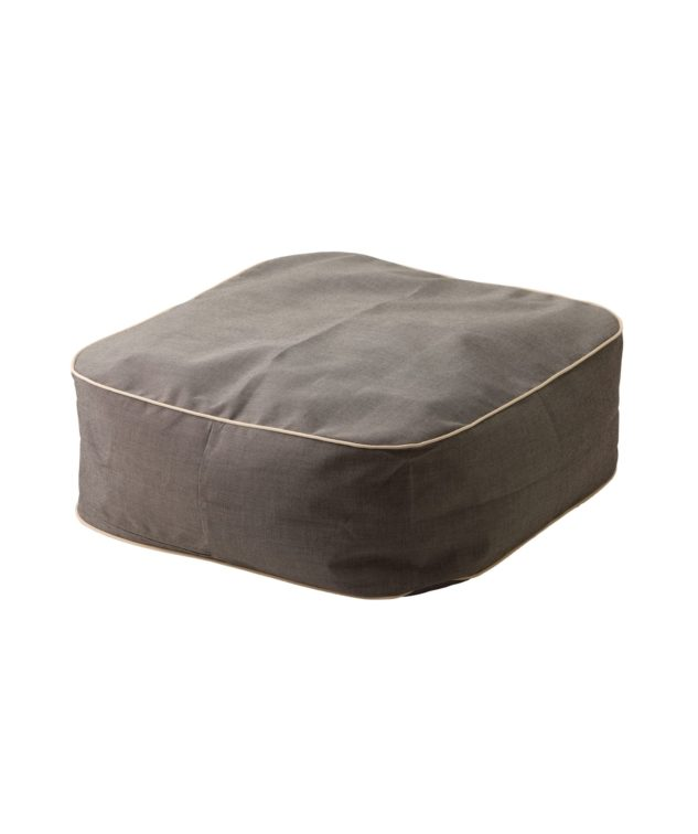 Coast Marine Bean Ottoman - charcoal tweed