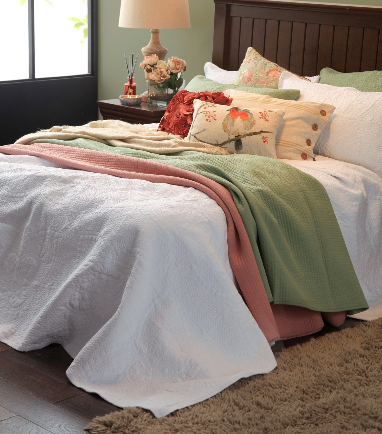 Mckenzie Bedroom Furniture Mm Linen Anjou Bedspread Set Mckenzie Willis
