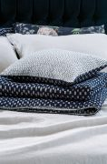 Kasuri Coverlet and Cushion