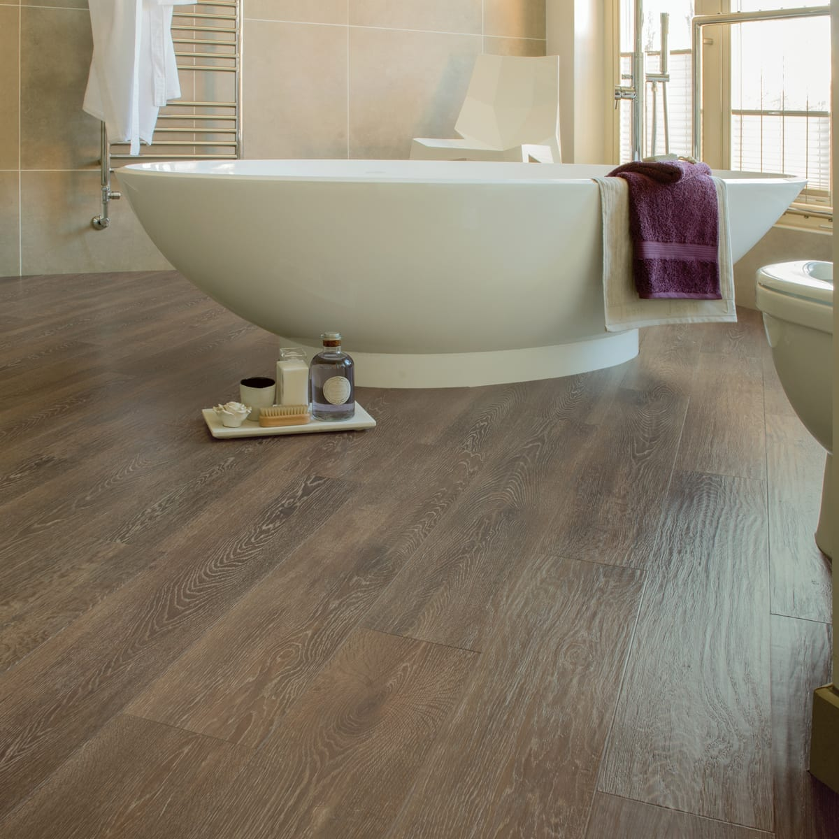 Floor Lino Bathroom: Karndean Art Select Oak Premier Vinyl Plank Flooring