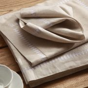 MM Linen French Bee Napery in Natural
