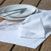 MM Linen Hemstitch Napery in White