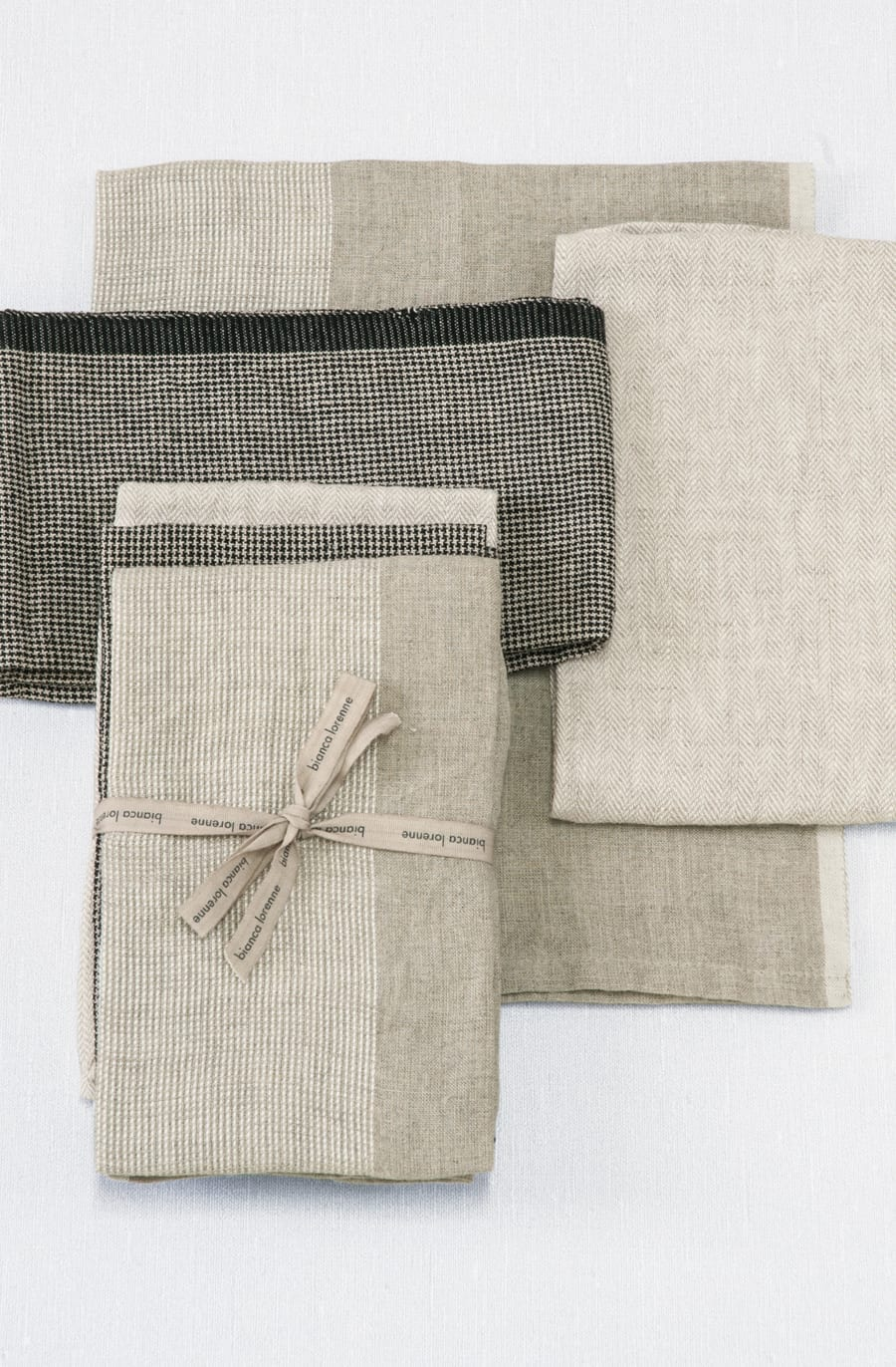 Bianca Lorenne Natural Tea Towels Set of 3