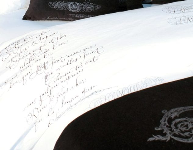 Arcanum Black Calligraphy Duvet Cover 1 633x491