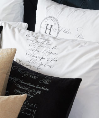 Arcanum Black Calligraphy Pillow Cases 316x377
