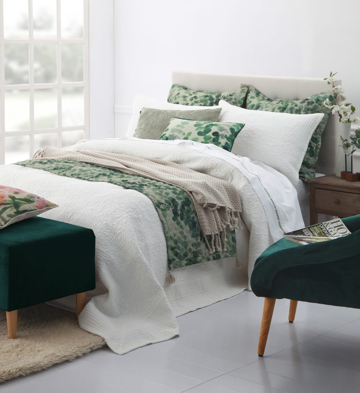 Allegra Bedspread in Ivory available at McKenzie & Willis
