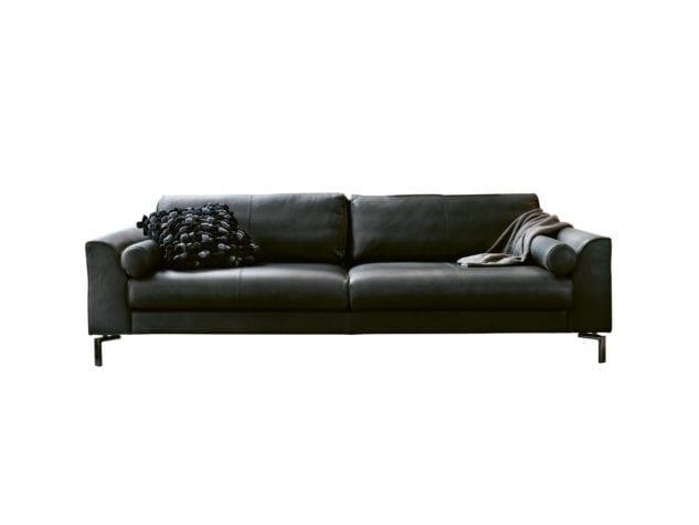 Furninova Blues Baker Leather Sofa available at McKenzie & Willis
