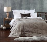 MM Linen Cosy Blanket in Sand available at McKenzie & Willis