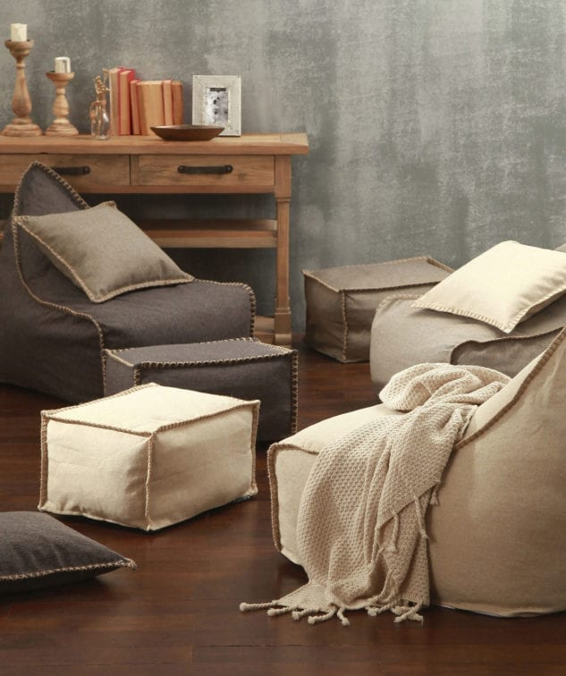 MM-Linen-Mero-Bean-Bag-&-Ottoman-Set-(Unfilled)