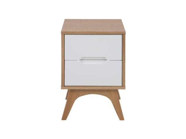 East West Designs Copenhagen 2 Drawer Bedside