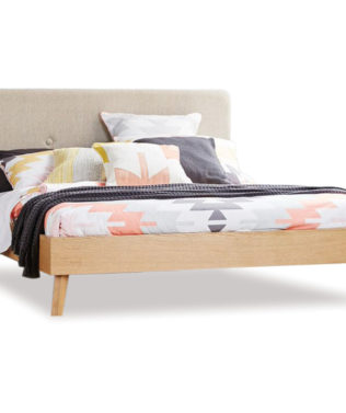 East West Designs Copenhagen Bed Frame with Headboard, available from McKenzie & Willis