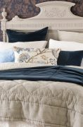 Bianca Lorenne Tessere Comforter with Aldo Indigo Comforter, available at McKenzie & Willis