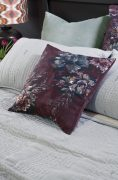 Bianca Lorenne Vernice Aubergine Cushion available at McKenzie & Willis