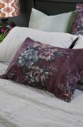 Bianca Lorenne Vernice Aubergine Pillowcase available at McKenzie & Willis