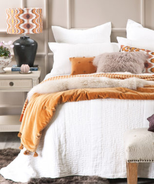 Ricamo White Bedspread available at McKenzie & Willis