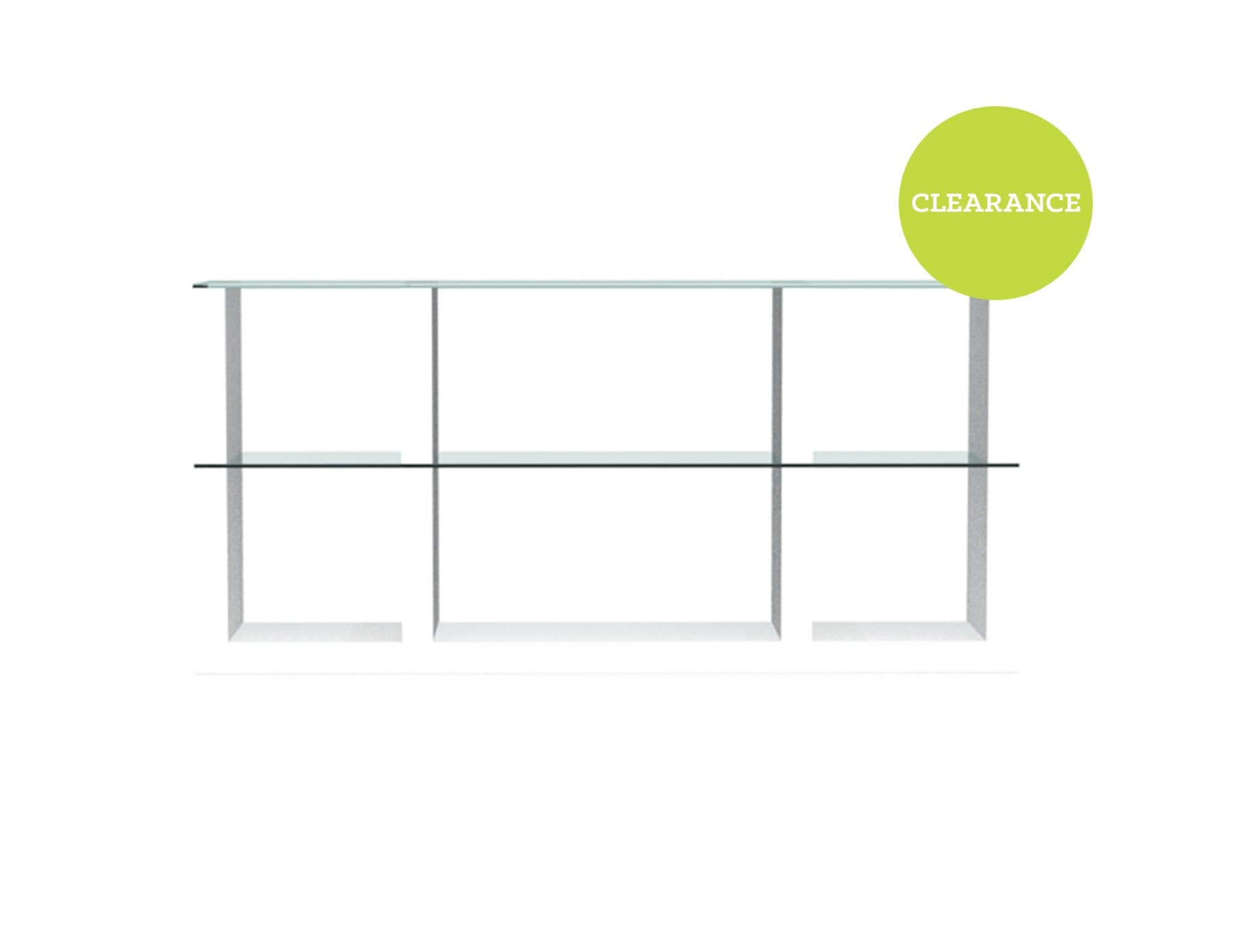 Calligaris Lib Bookcase In White Transparent