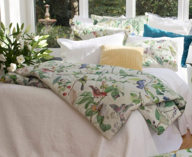 MM Linen Aviary Comforter with Anjou Bedspread