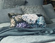 MM Linen Hydrangea Cushion available at McKenzie & Willis