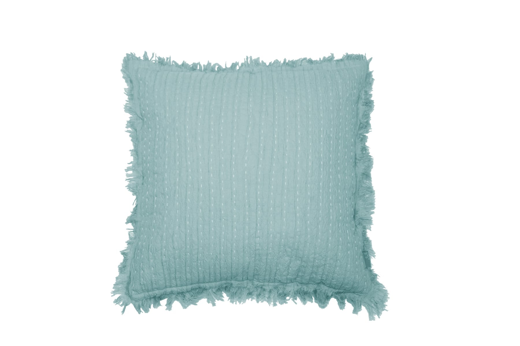 MM Linen Tali Cushion in Duck Egg available at McKenzie & Willis