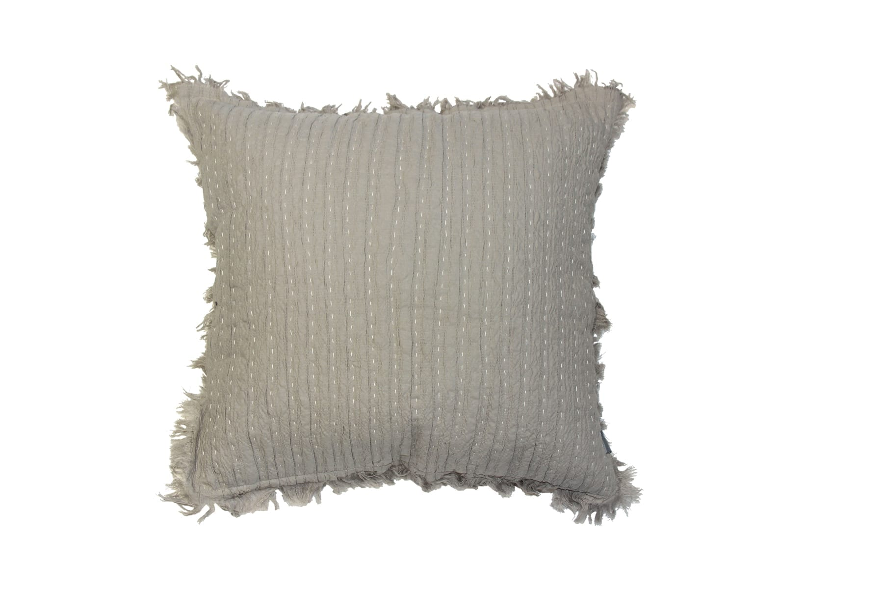 MM Linen Tali Cushion in Taupe available at McKenzie & Willis