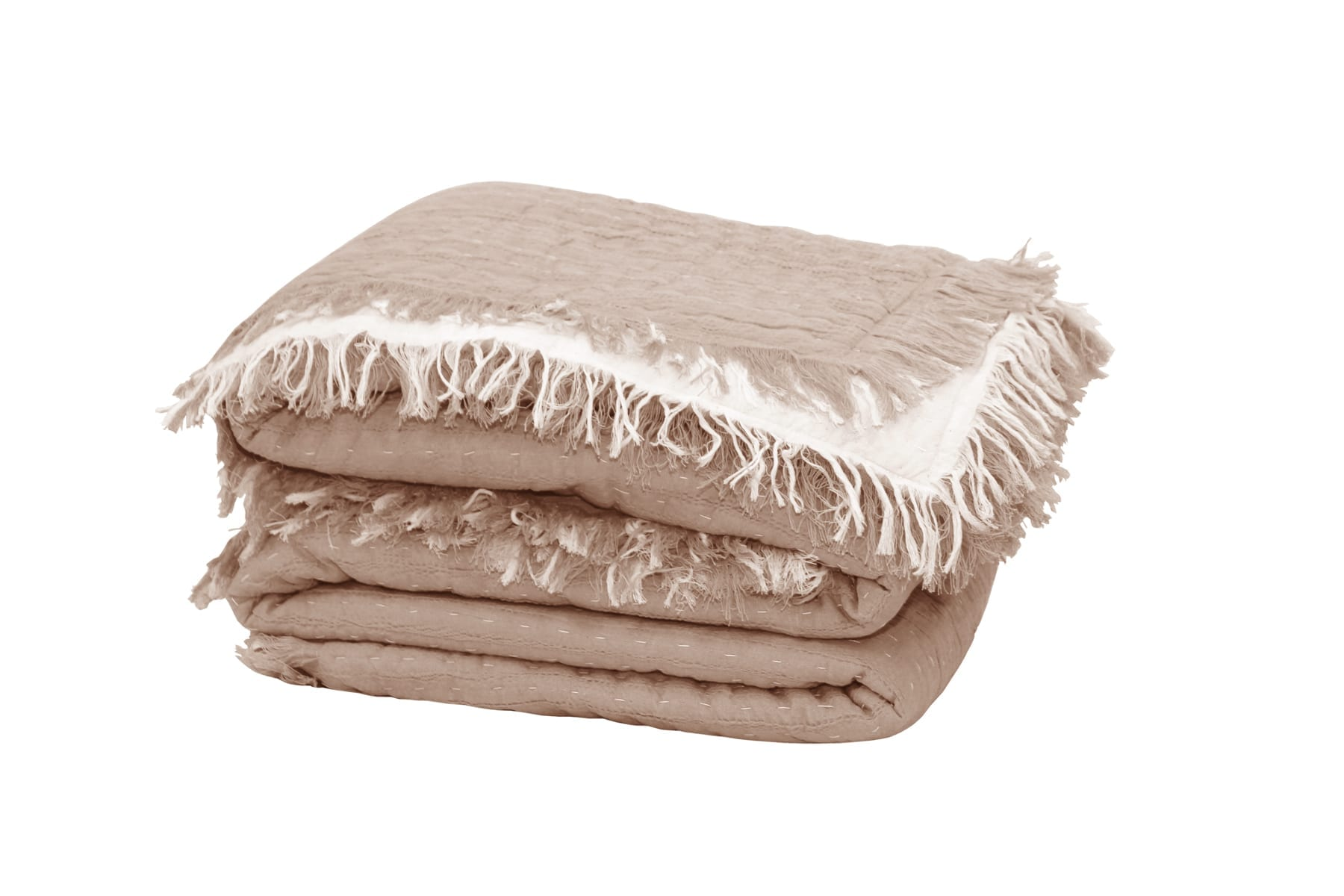 MM Linen Tali Throw in Blush available at McKenzie & Willis