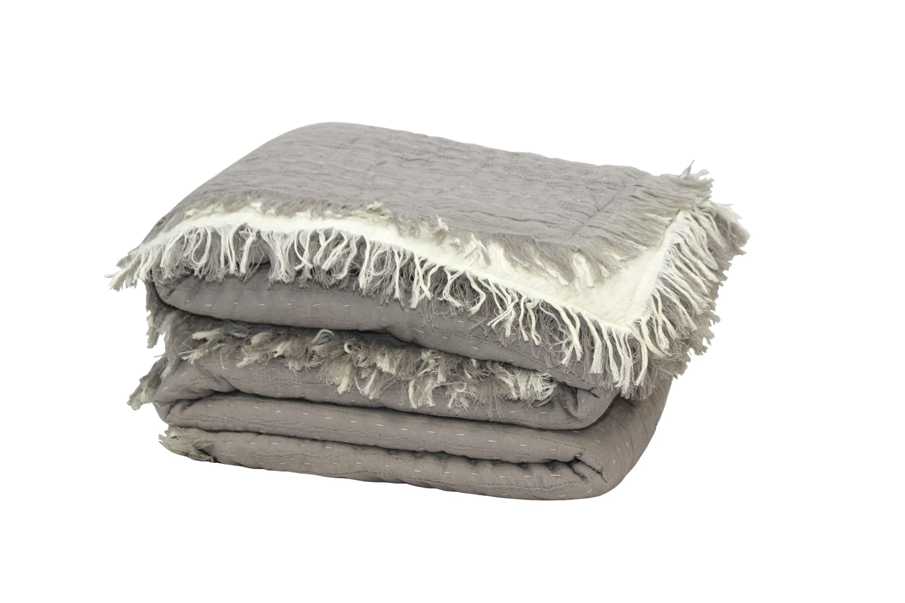 MM Linen Tali Throw in Taupe available at McKenzie & Willis
