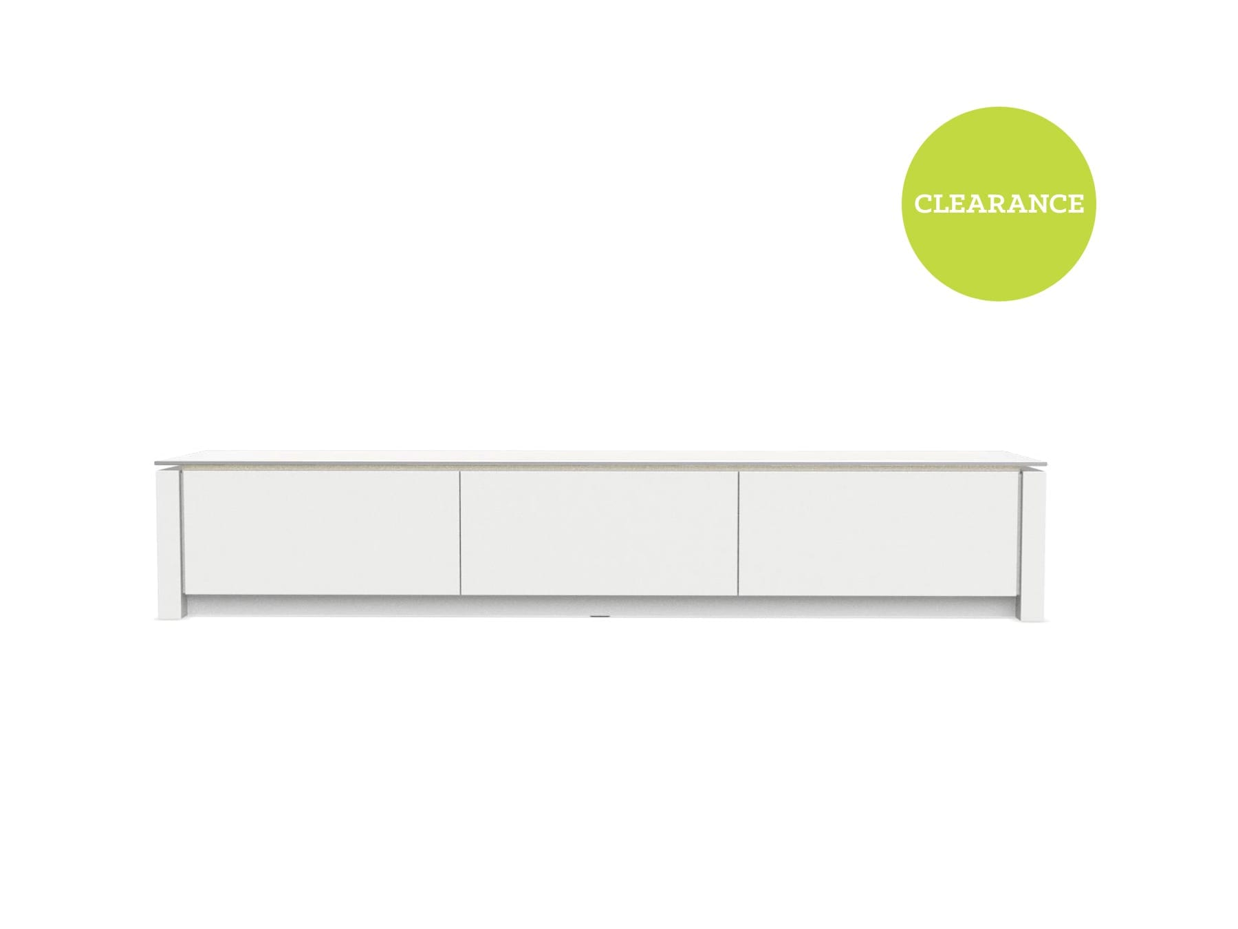 Calligaris Mag CS60293R Entertainment Unit Glass Top White 206231