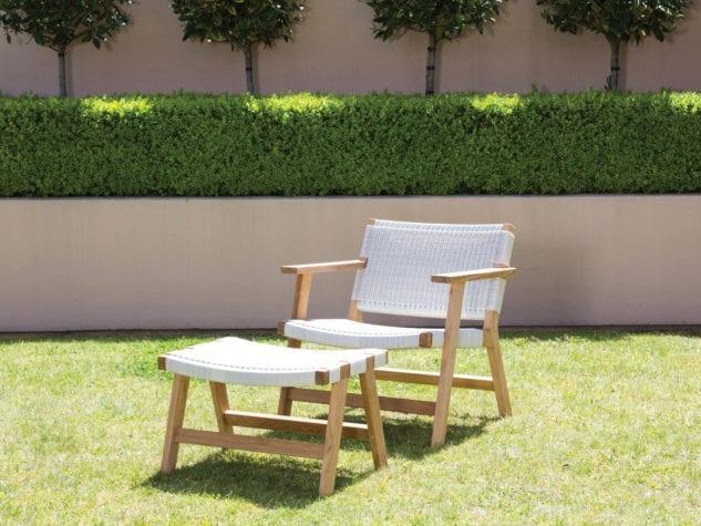 Devon Jackson Easy Chair & Footstool available at McKenzie & Willis