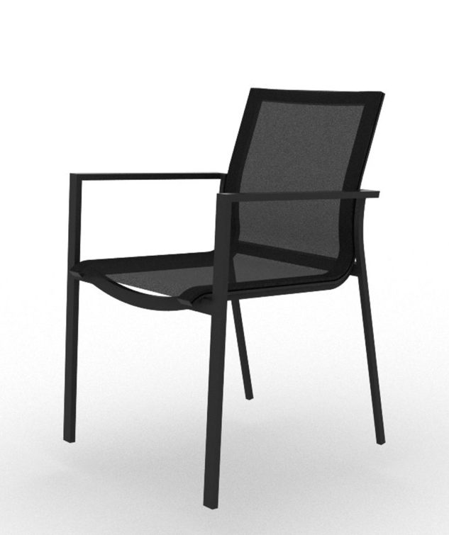Elida Dining Chair Clear Cut Black 633x755