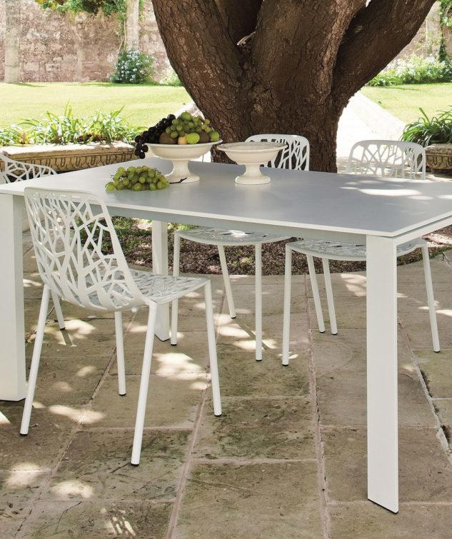 Grande Arche Extendible Table forest armchair 633x755
