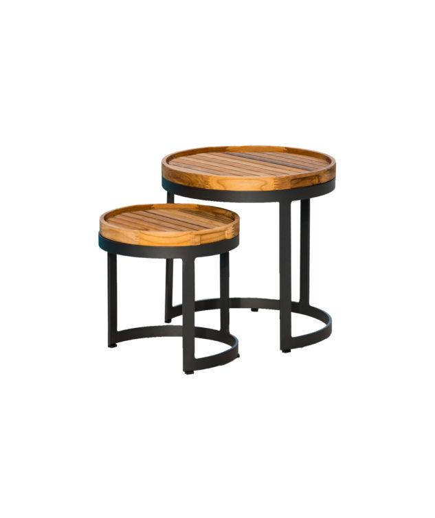 Jati & Kebon Bertus Outdoor Side Table Set