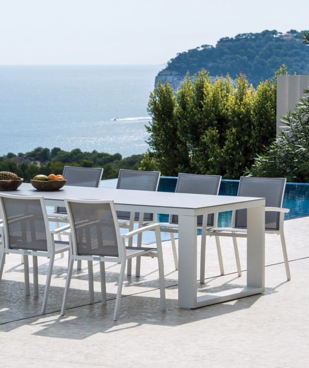 Linate Ceramic Dining Table Lifestyle With Sevilla 633x755