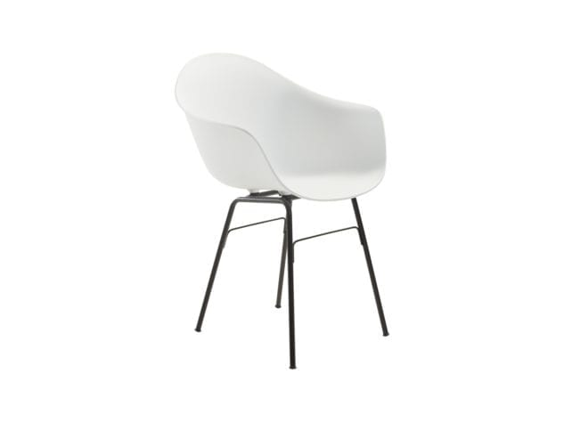 Toou Shell Armchair with Metal Legs