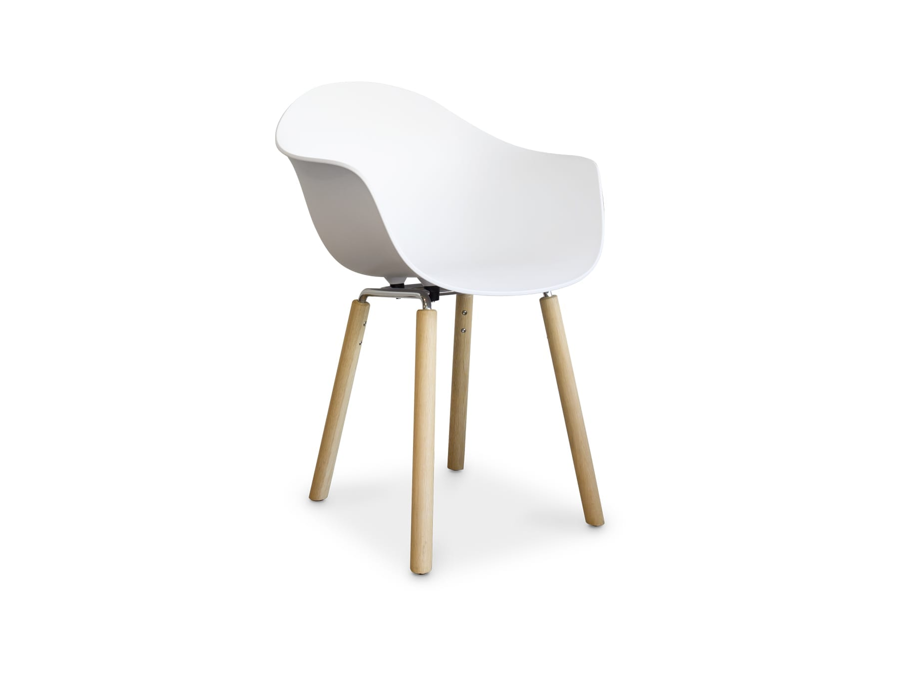 Toou Shell Armchair with Wood Legs available at McKenzie & Willis
