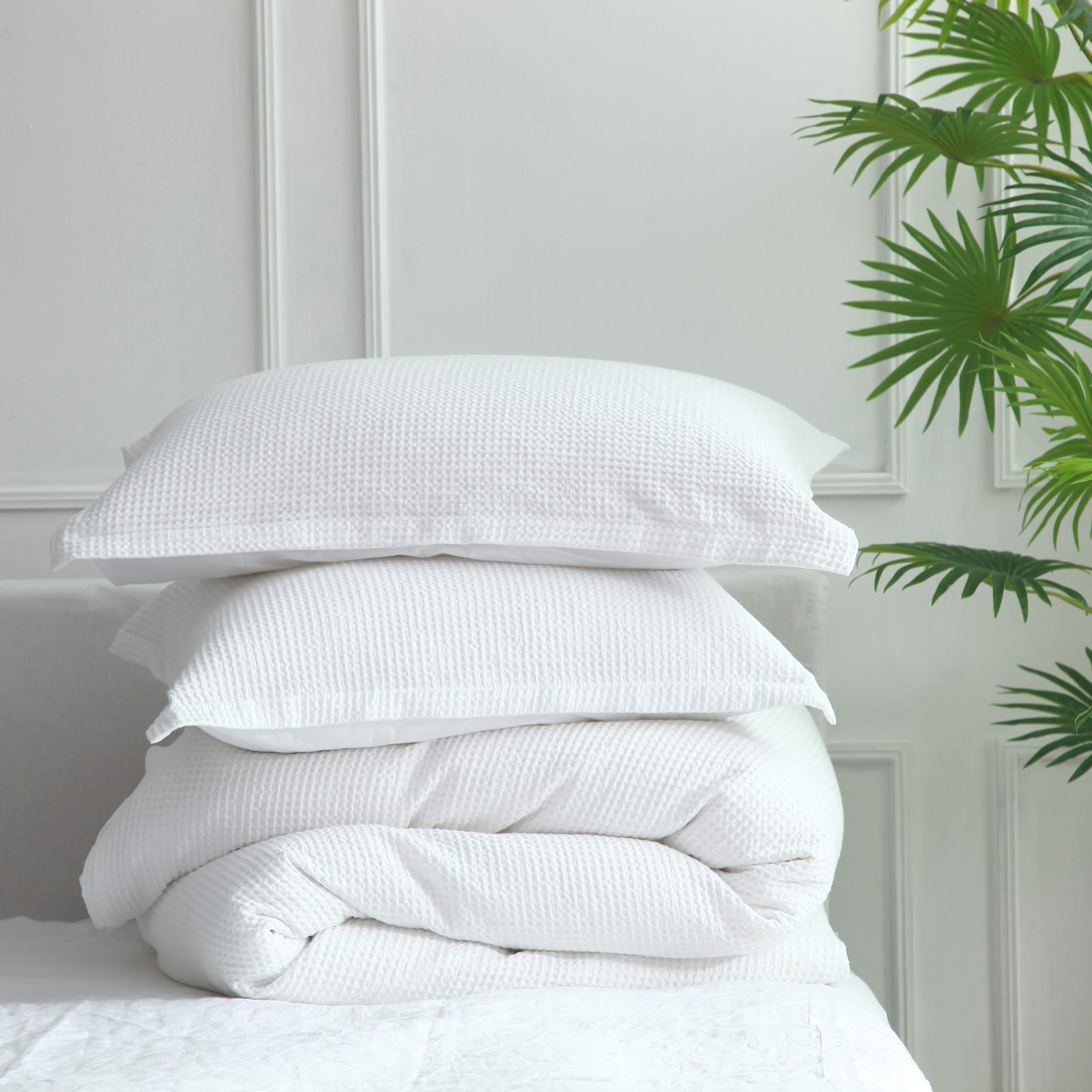 MM Linen cotton waffle available at McKenzie & Willis