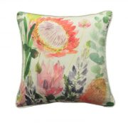 MM Linen Protea Cushion available at McKenzie & Willis