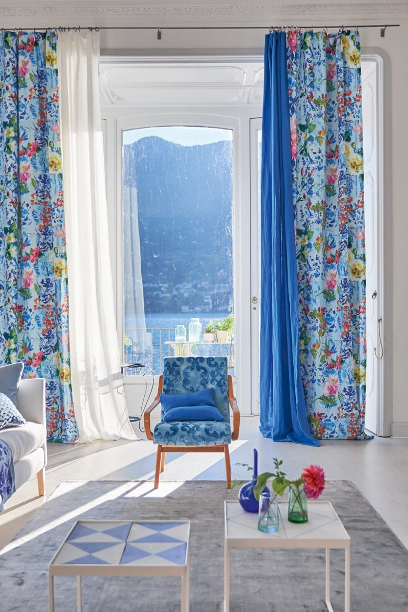 Designers Guild Majolica Fabric Collection available at McKenzie & Willis