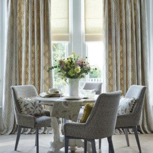 Custom Made Triple Pinch Pleat Curtains available at McKenzie & Willis