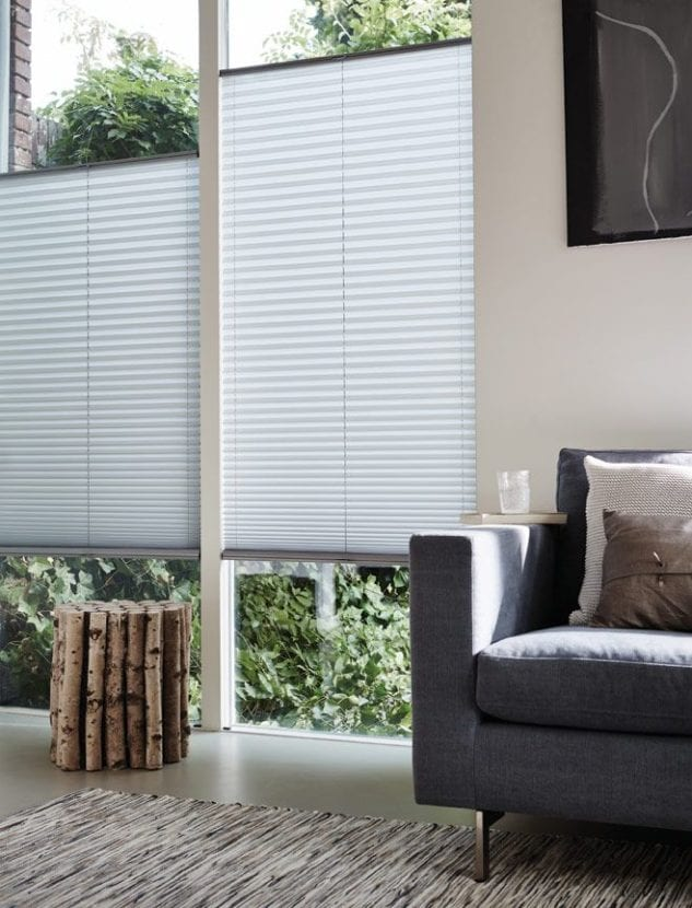 Luxaflex Pleated Blinds available at McKenzie & Willis