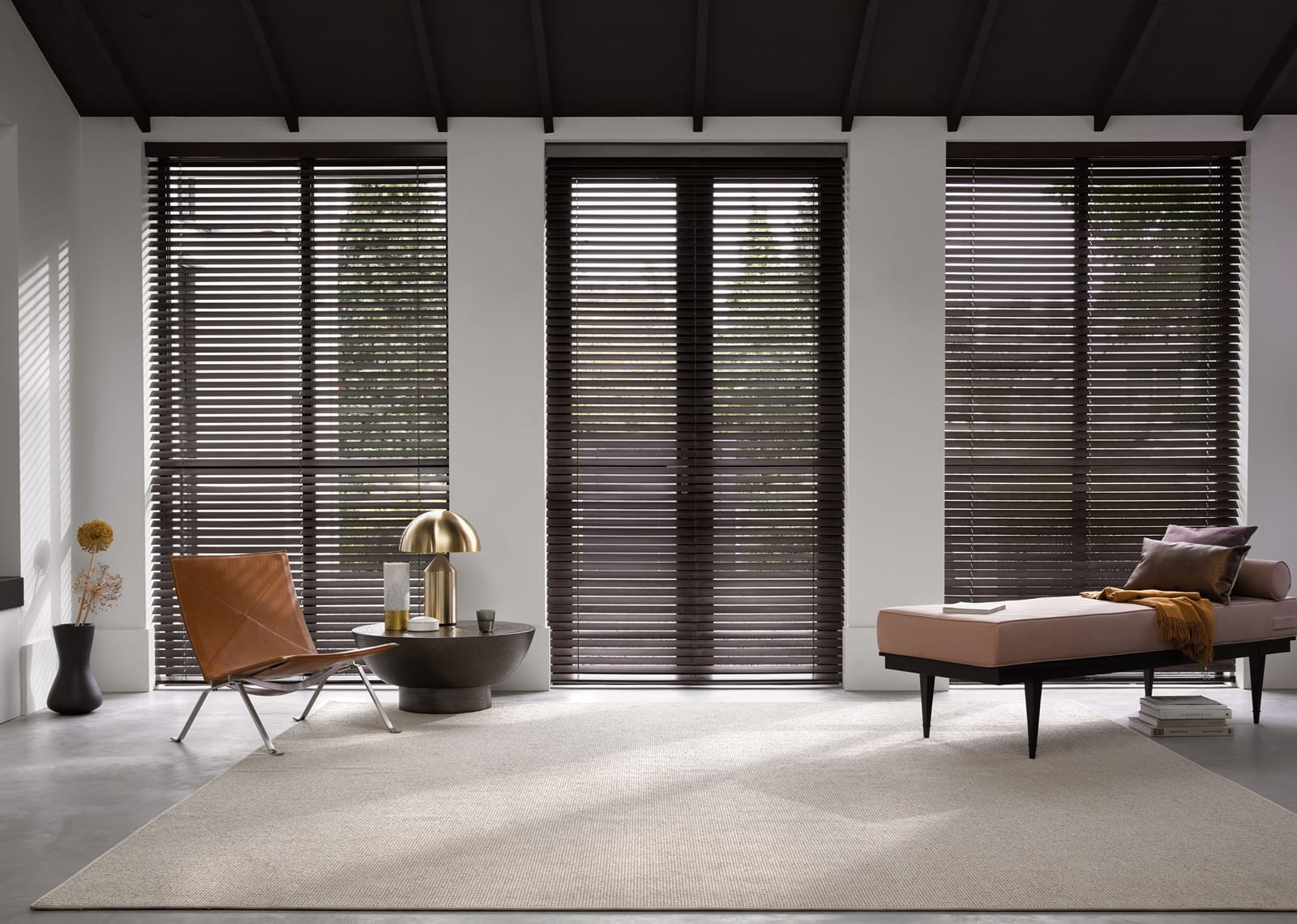 Luxaflex Countrywoods timber venetian blinds available at McKenzie & Willis