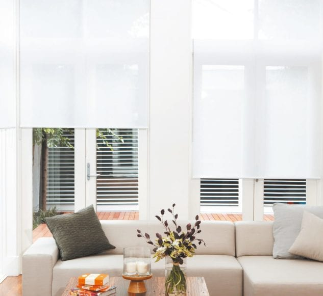 Luxaflex Light Filtering Rollershades available at McKenzie & Willis