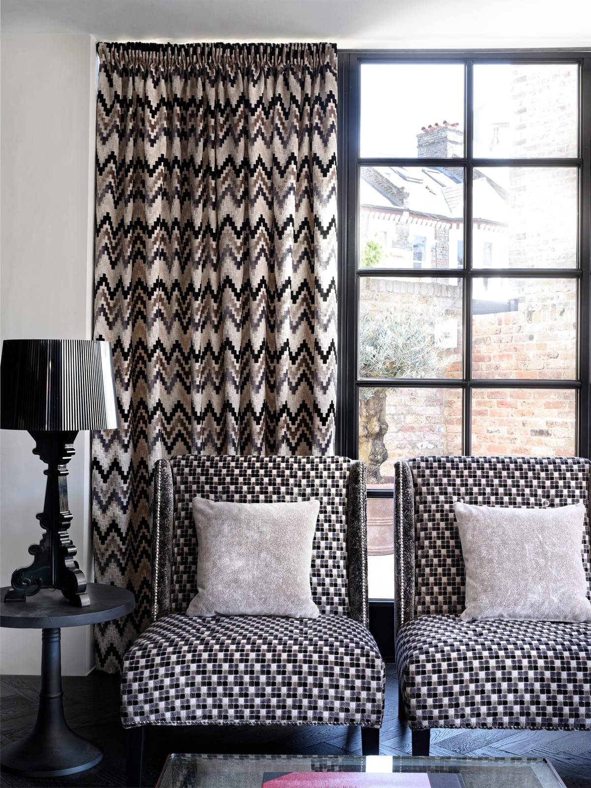 Custom Made Pencil Pleat Curtains available at McKenzie & Willis